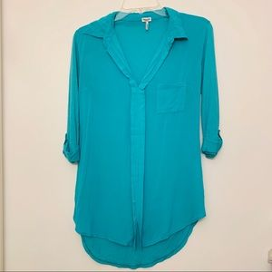 SPLENDID GREEN HIGH-LOW TUNIC/BLOUSE